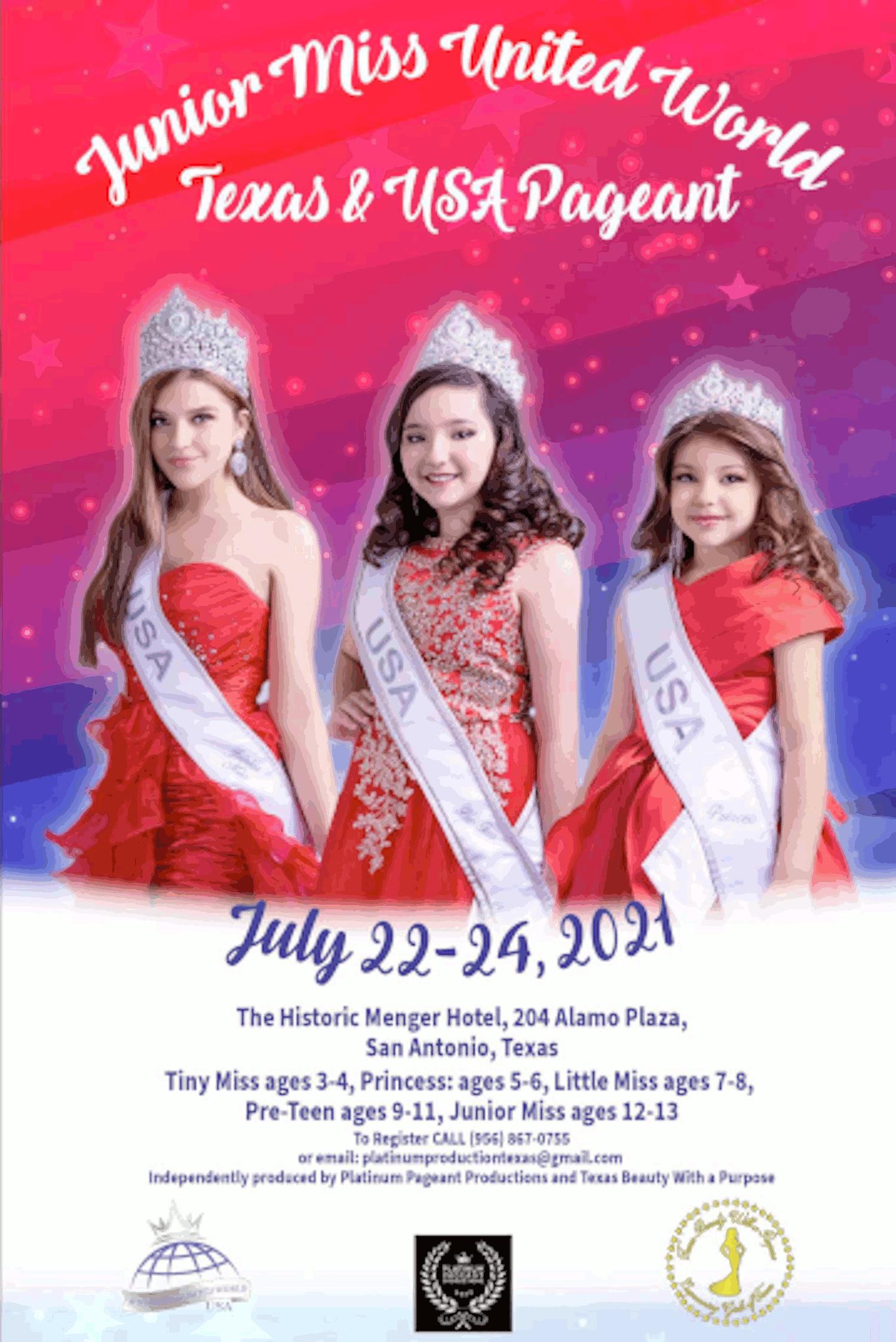 Miss World America Texas 2020 Poster